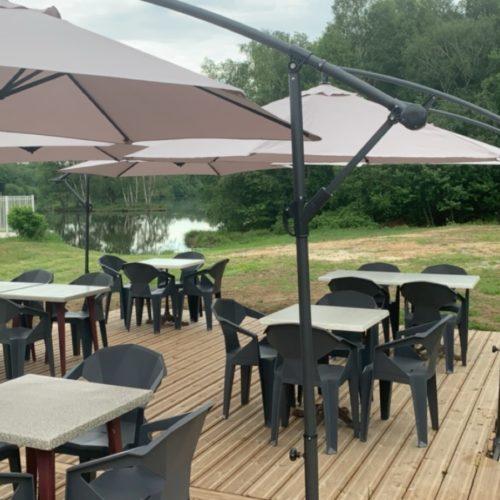 terrasse Bar/restaurant camping